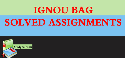 IGNOU SOLVED ASSIGNMENT