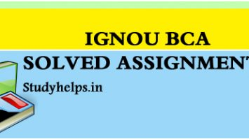 IGNOU BCA SOLVED ASSIGNMENTS